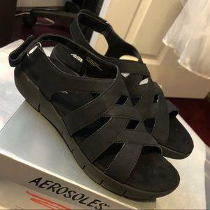 Aerosoles Black Sandals